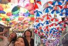 【7月~9月限定】 アゲタの傘祭りとオビドス、ナザレ、コインブラ、コスタノヴァ  ~リスボン発 ポルト着~