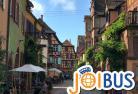 【JOIBUS】ストラスブール発インターラーケン着(途中アルザスの村リクヴィールとコルマールで散策できます)