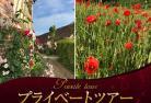 【プライベートツアー】 専用車で行く フランス人の愛する花コクリコとバラの村ジェルブロワ半日観光