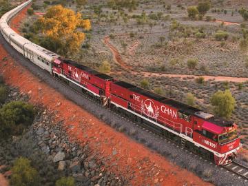 長距離鉄道グレートサザンレールウェイ ザ・ガンでオーストラリアを縦断 - ダーウィン発