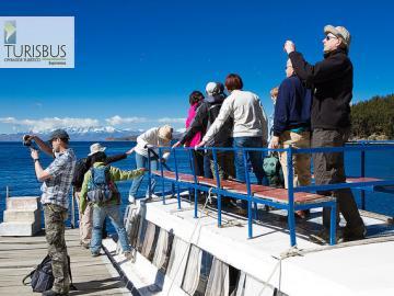 コパカバーナとチチカカ湖に浮かぶ太陽の島1泊2日パッケージ(バス+宿1泊+観光ツアー)ラパス発