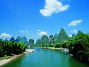 桂林漓江下りのスタンダードコース