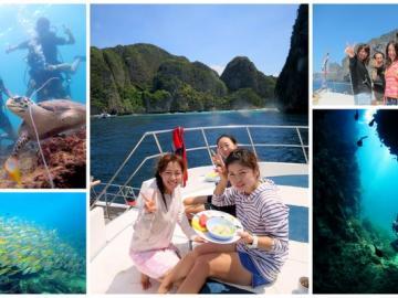 体験ダイビング(日本語)☆南国の絶景ピピ島&人気のシャークポイント