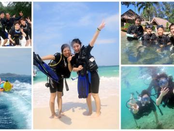 コーラル島1日ツアー+体験ダイビング(日本語)!お子様(8歳以上)もダイビング可能です!