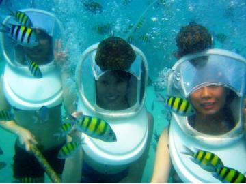 コーラル島1日ツアー+シーウォーカー☆象乗り(エレファント・トレッキング)やスパ付きプランもあります!