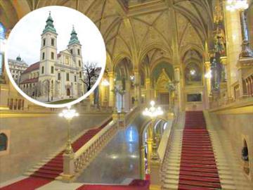 国会議事堂見学と城郭都市ペストの歴史探訪