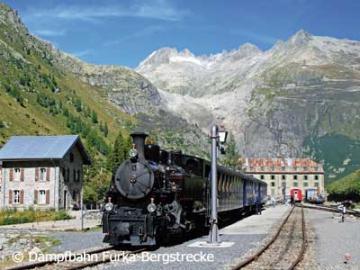 フルカ山岳蒸気鉄道 乗車チケット オーバーワルトからレアルプ(片道)