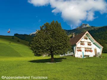 伝統的なスイスの村 アッペンツェルとホーアー・カステン展望台