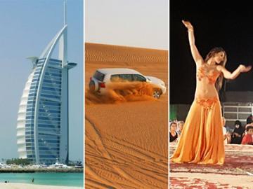 日本人ガイドと行くドバイ午後市内観光と4WDデザートサファリ アラブ風ビュッフェディナーとベリーダンスショー鑑賞付き