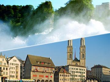 午前ラインの滝観光と午後チューリッヒ市内観光