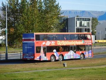 レイキャヴィク市内乗り降り自由(ホップオン/ホップオフ)観光バス