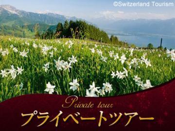 【プライベートツアー】 日本語ガイドと列車で行く 「5月の雪」ナルシスの花を地訪ねて 午後観光~ヴヴェイ観光とレマン湖クルーズ付