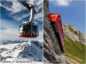 中央スイスハイライト1泊2日 ~ピラトゥスとティトゥリス~ 山頂ホテルに宿泊