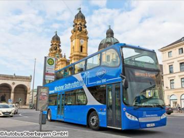 ミュンヘン市内 乗り降り自由2階建観光バス 1日券・2日券