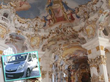 プライベートタクシーで行く ヴィース教会とノイシュヴァンシュタイン城