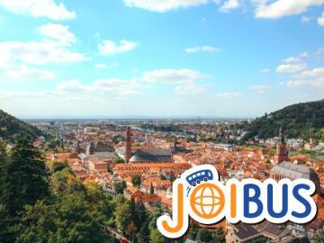 【JOIBUS】フランクフルト発ストラスブール着(途中リューデスハイムとハイデルベルクで散策できます)