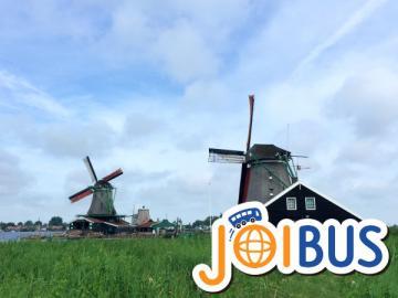 【JOIBUS】ブリュッセル発アムステルダム着(途中ロッテルダムとザーンセ・スカンスで散策できます)