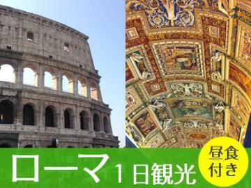 お得にローマ!コロッセオ&真実の口&ヴァチカン美術館へ入場!ローマ決定版 1日観光 昼食付