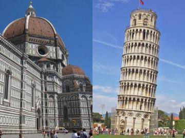 人気ツアーがセットでお得!ウフィツィ美術館とピサの斜塔のどちらも入場!1日観光