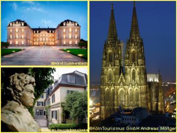 【プライベートツアー】2つの世界遺産 ケルン大聖堂、アウグストゥスブルク城とボン 1日観光