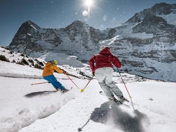 手ぶらでOK!ユングフラウエリアのスキー&スノボ 夕食付きお手軽パック