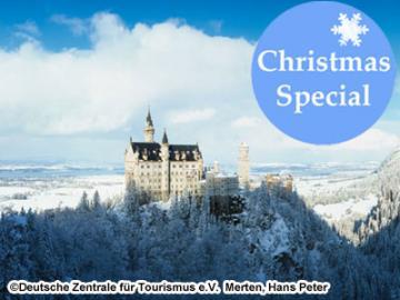 【11月22日~12月23日限定】 ノイシュヴァンシュタイン城、世界遺産ヴィース教会とバートテルツのクリスマスマーケット