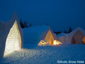 オーロライナー 《ロバニィ》 1泊2日 オーロラ観賞&雪と氷のホテルに宿泊