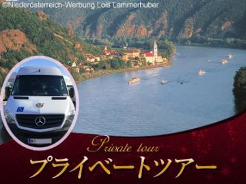 車椅子ごと乗せられる専用車で行く バッハウ渓谷1日観光