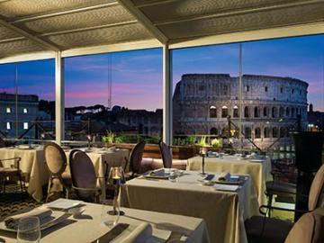 【プライベートツアー】専用車送迎付き コロッセオの夜景を独り占め!ミシュラン1つ星レストラン「リストランテ・アロマ」でのディナー