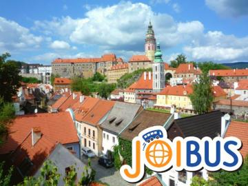 【JOIBUS】プラハ発ザルツブルク着(途中フルボカー城のフォトストップ、チェスキークルムロフで散策できます)