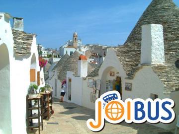 【JOIBUS】アルベロベッロ発ナポリ着(途中洞窟の町マテーラでは散策時間があります)