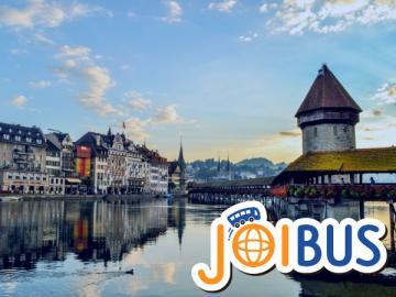 【JOIBUS】インターラーケン発ミラノ着(途中ルツェルンでの散策、またはティトゥリス山の麓の町エンゲルベルクでは自由時間があります)