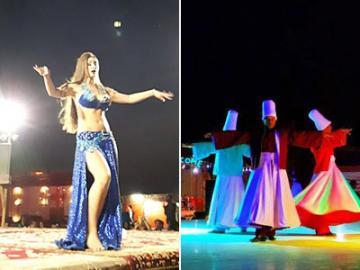 日本人ガイドと行く砂漠キャンプへのナイトツアー ベリーダンスショーとアラブ風ビュッフェディナー