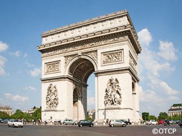パリ市内観光(セーヌ河クルーズとエッフェル塔の展望レストランでのランチ付き)