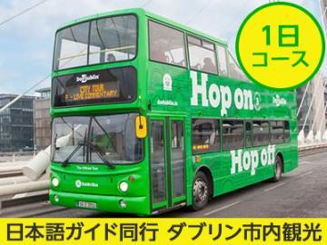 【プライベートツアー】貸切日本語ガイドがご案内 乗り降り自由バスで巡るダブリン市内1日観光 ~ケルズの書とタラのブローチ鑑賞、ギネスストアハウスも入場!