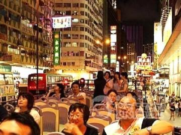 【格安オープントップバス(スタンダードコース)】 夜景観賞 + 女人街 散策