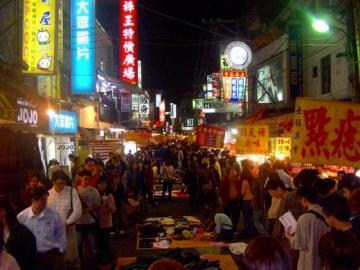 士林の夜店見学と台湾式 バーベキューディナー