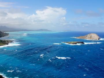 オアフ島東海岸観光&サンドバー海がめツアー